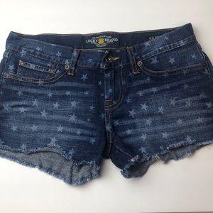 ▪️FINAL SALE Lucky brand jean shorts size 0/25
